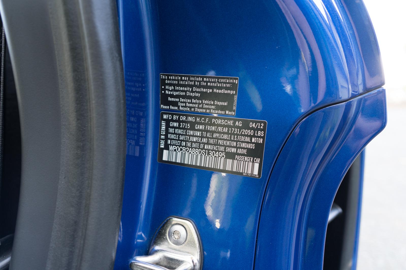 2013 Porsche Boxster S PDK for sale
