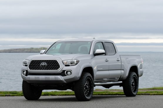 2018 toyota tacoma trd lifted custom in cement grey. Black Bedroom Furniture Sets. Home Design Ideas